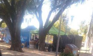 Descontento por la instalación de una feria en una plaza que homenajea a víctimas de la inseguridad